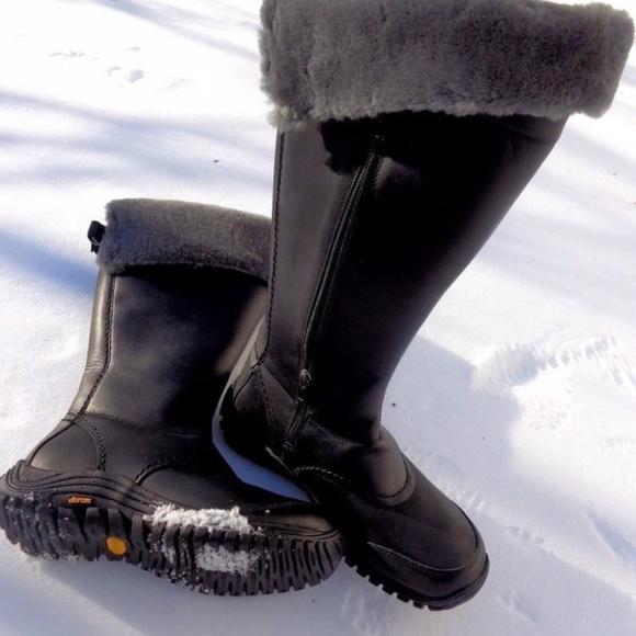 830afcd3c6c UGG Miko Black Grey Snow Rain Waterproof Boots NEW NWT
